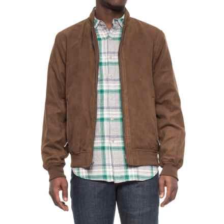 Weatherproof Microsuede Baseball Jacket (For Men) in Dark Almond - Overstock