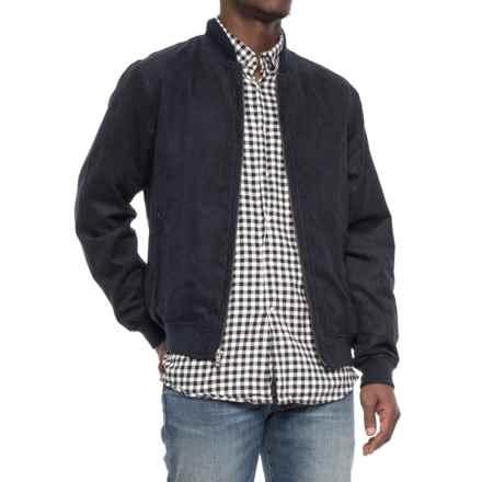 Weatherproof Microsuede Baseball Jacket (For Men) in Indigo - Overstock
