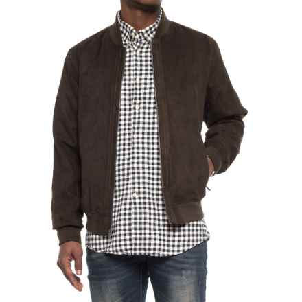 Weatherproof Microsuede Baseball Jacket (For Men) in Loden - Overstock
