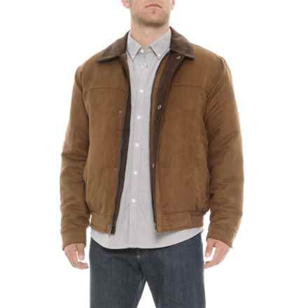 Weatherproof Microsuede Bomber Jacket - Insulated (For Men) in Dark Almond - Closeouts