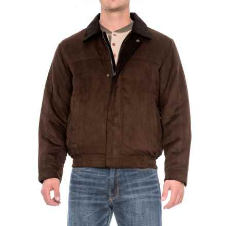 Weatherproof Microsuede Polyfill Bomber Jacket (For Men) in Chocolate Brown - Closeouts