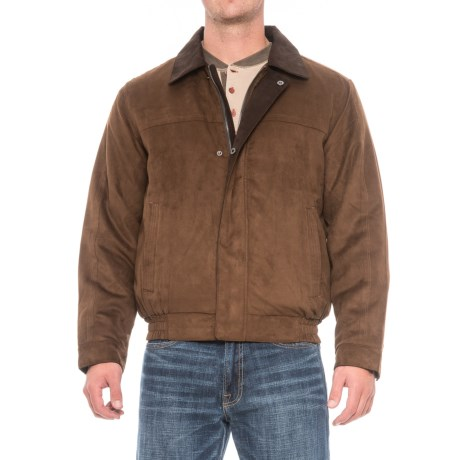 Weatherproof Microsuede Polyfill Bomber Jacket (For Men)