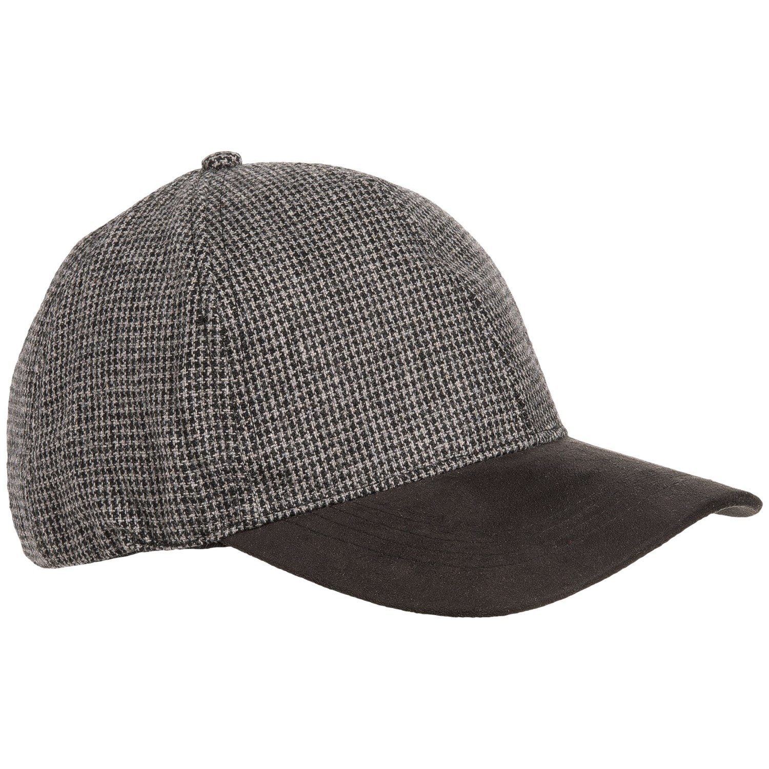 1778355729b Weatherproof Microsuede Visor Baseball Cap (For Men .
