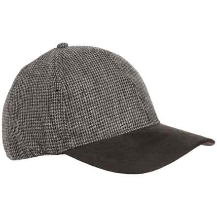 Weatherproof Microsuede Visor Baseball Cap - 2-Tone, Wool Blend (For Men) in Grey Check - Overstock