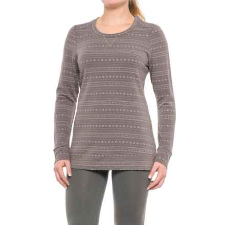 Weatherproof Midweight Sweatshirt (For Women) in Dark Grey Mini Snow - Closeouts