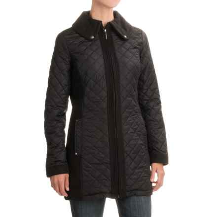 Weatherproof Mixed Media Quilted Walker Jacket (For Women) in Black - Closeouts