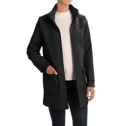 Weatherproof Mixed Media Topper Coat (For Women) in Black - Closeouts