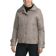 Weatherproof Mosaic Quilted Jacket - Full Zip (For Women) in Smoke - Closeouts