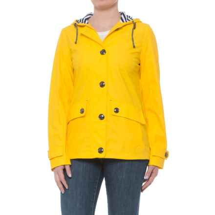 Weatherproof Nautical Hooded Windbreaker (For Women) in Sunflower - Closeouts