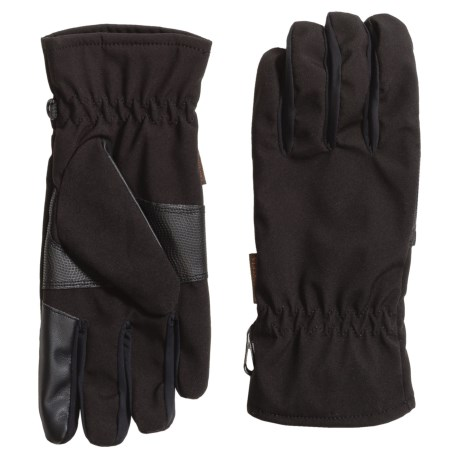Weatherproof Original Soft Shell Gloves - Waterproof, Touchscreen Compatible (For Men) in Black