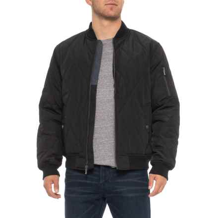 Weatherproof Oxford Quilted Baseball Jacket - Insulated (For Men) in Black - Overstock