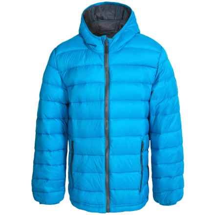 Weatherproof Packable Down Hooded Jacket (For Little and Big Boys) in Royal - Closeouts