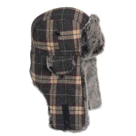 Weatherproof Plaid Aviator Hat - Insulated, Ear Flaps (For Men and Women) in Brown Plaid - Closeouts
