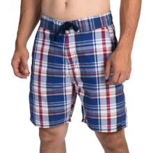Weatherproof Plaid Board Shorts (For Men) in Navy - Closeouts