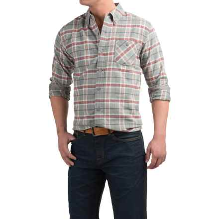Weatherproof Plaid Flannel Shirt - Long Sleeve (For Men) in Grey - Closeouts