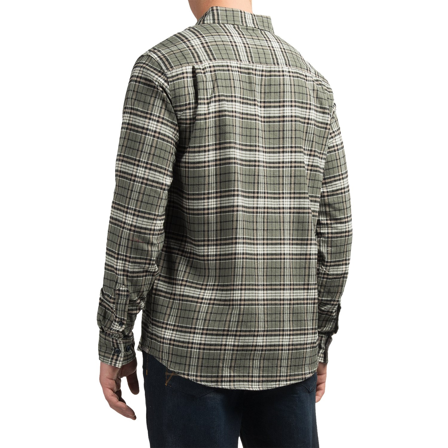 Weatherproof plaid flannel shirt for men save 74 for Flannel checked long sleeve shirt
