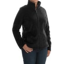 Weatherproof Plush Pile Fleece Jacket (For Plus Size Women) in Black - Closeouts