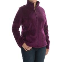 Weatherproof Plush Pile Fleece Jacket (For Plus Size Women) in Plum - Closeouts