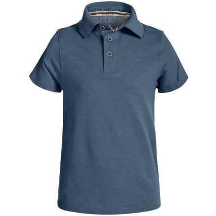 Weatherproof Polo Shirt - Short Sleeve (For Big Boys) in Heather Blue - Closeouts