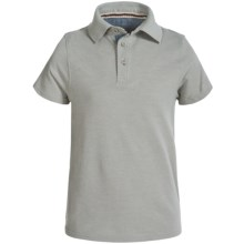 Weatherproof Polo Shirt - Short Sleeve (For Big Boys) in Heather Grey - Closeouts