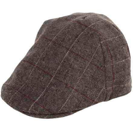 Weatherproof Quilt-Lined Driving Cap (For Men) in Brown Bone/Plaid - Closeouts