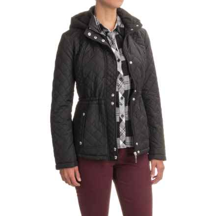 Weatherproof Quilted Anorak Jacket (For Women) in Black - Closeouts