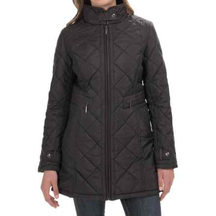 Weatherproof Quilted City Walker Coat (For Women) in Black - Closeouts