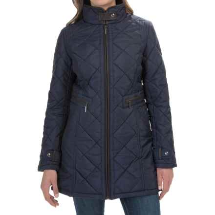 Weatherproof Quilted City Walker Coat (For Women) in Dark Denim - Closeouts