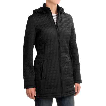 Weatherproof Quilted Hooded Walker Coat (For Women) in Black - Closeouts