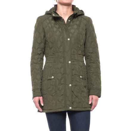 Weatherproof Quilted Hooded Walker Coat (For Women) in Olive - Closeouts