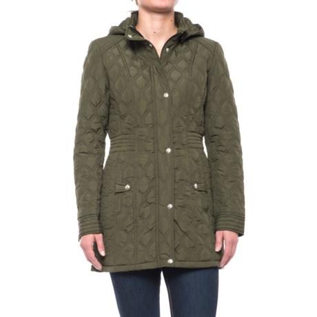 Weatherproof Quilted Hooded Walker Coat (For Women) in Olive