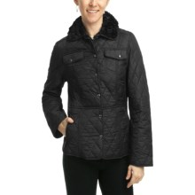 Weatherproof Quilted Jacket - Faux-Fur Lining (For Women) in Black - Closeouts