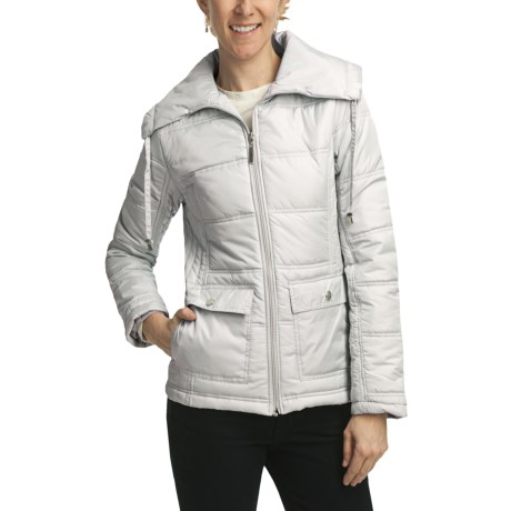 Weatherproof Quilted Packable Jacket - Zip Front (For Women) in White