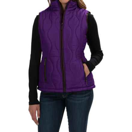 Weatherproof Quilted Swirl Vest - Faux-Fur Lined (For Women) in Purple - Closeouts