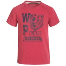 Weatherproof Raglan T-Shirt - Short Sleeve (For Big Boys) in Cherry - Closeouts