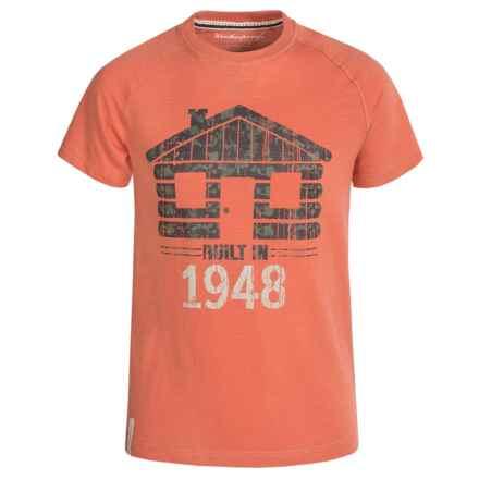 Weatherproof Raglan T-Shirt - Short Sleeve (For Big Boys) in Ginger - Closeouts