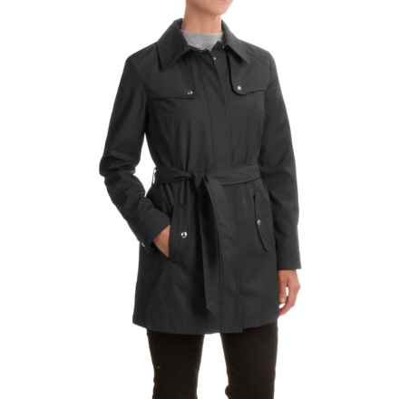 Weatherproof Rain Trench Coat (For Women) in Black - Closeouts