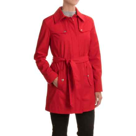 Weatherproof Rain Trench Coat (For Women) in Red - Closeouts