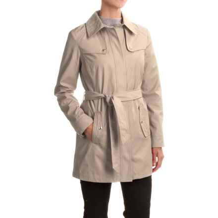 Weatherproof Rain Trench Coat (For Women) in Taupe - Closeouts