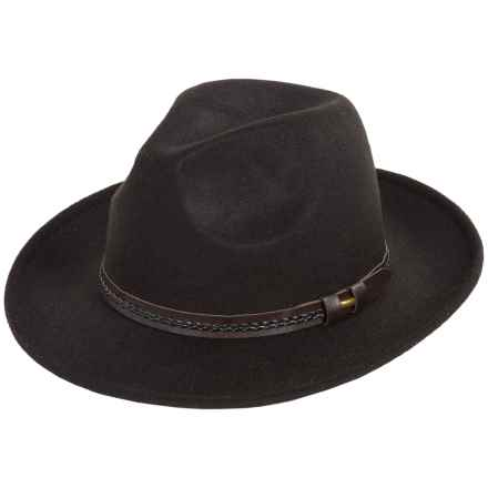 Weatherproof Safari Wide Brim Felt Hat (For Men) in Black - Overstock