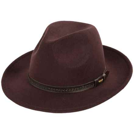 Weatherproof Safari Wide Brim Felt Hat (For Men) in Dark Brown - Overstock