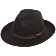 Weatherproof Safari Wide Brim Felt Hat - Wool (For Men) in Black - Overstock