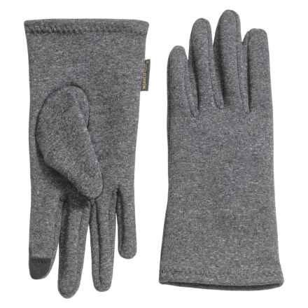 Weatherproof Single-Layer Stretch Gloves - Touchscreen Compatible (For Women) in Grey - Closeouts