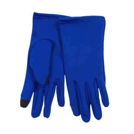 Weatherproof Single-Layer Stretch Gloves - Touchscreen Compatible (For Women) in Royal Blue - Closeouts