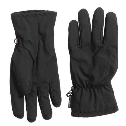 Weatherproof Soft Shell Pieced Back Gloves - Insulated (For Men) in Black - Closeouts