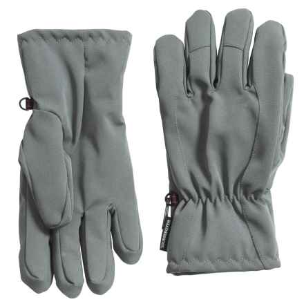 Weatherproof Soft Shell Pieced Back Gloves - Insulated (For Men) in Grey - Closeouts