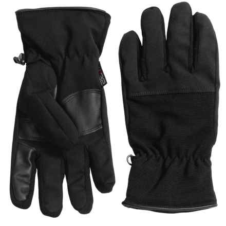 Weatherproof Soft Shell Stretch Gloves - Touchscreen Compatible (For Men) in Black - Closeouts