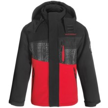 Weatherproof Soft Shell System Jacket - 3-in-1, Insulated (For Big Boys) in Red/Black/Grey Plaid - Closeouts