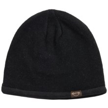 Weatherproof Solid Beanie - Wool Blend, Fleece Lined (For Men and Women) in Black - Closeouts