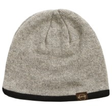 Weatherproof Solid Beanie - Wool Blend, Fleece Lined (For Men and Women) in Grey - Closeouts